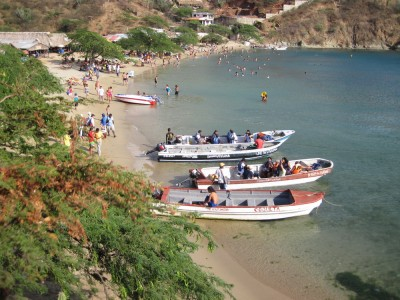 Bootsverbindung Playa Grande nach Taganga