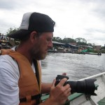 Jo auf dem Amazonas bei Leticia Kolumbien