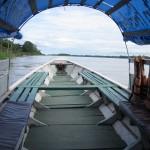 Das Boot vom Juan-Carlos auf dem Amazonas in Kolumbien bei Leticia