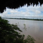 Blick auf den Amazonas in Kolumbien bei Leticia