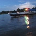 Nächtliche Überfahrt auf dem Amazonas von Leticia Kolumbien nach Santa Rosa Peru